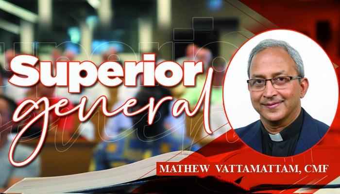 Fr. Mathew Vattamattam CMF the re-elected Superior General